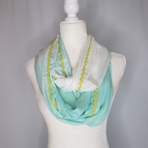 NWT Threads 4 Thought Aqua Green & White Scarf